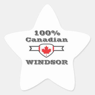 100% Windsor Star Sticker