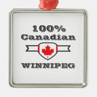 100% Winnipeg Metal Ornament