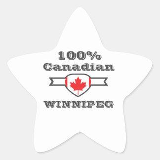 100% Winnipeg Star Sticker