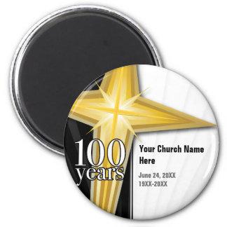 100 Year Church Anniversary 2 Inch Round Magnet