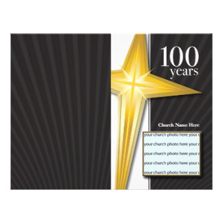 100 Year Church Anniversary Bulletin Flyer