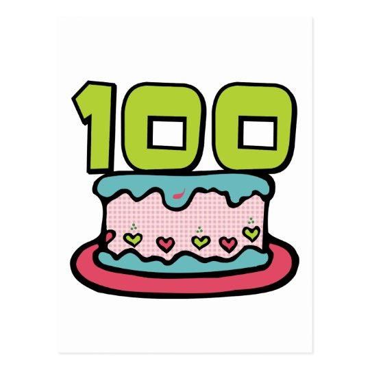 100 Year Old Birthday Cake Postcard Zazzle Ca