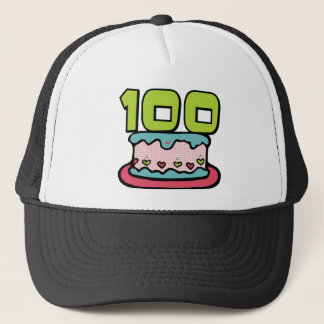 100 Year Old Birthday Cake Trucker Hat