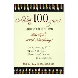 100 Year old Birthday party invitation