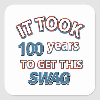 100 year old designs square sticker