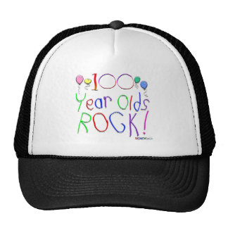 100 Year Olds Rock! Hat