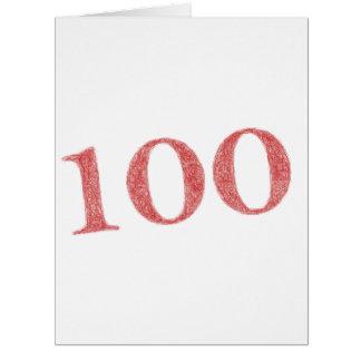 100 years anniversary card