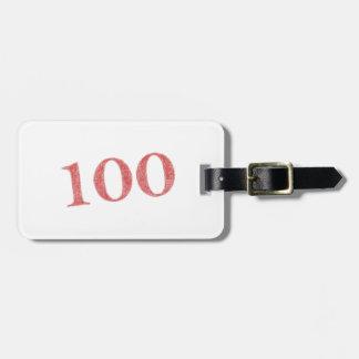 100 years anniversary luggage tag