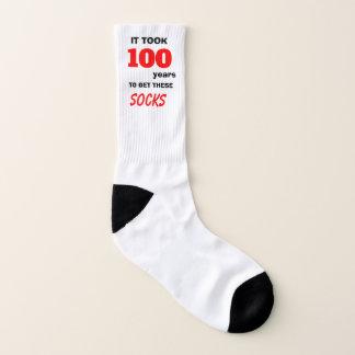 100 years for socks 100th Birthday 1