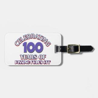 100 years of raising hell bag tag