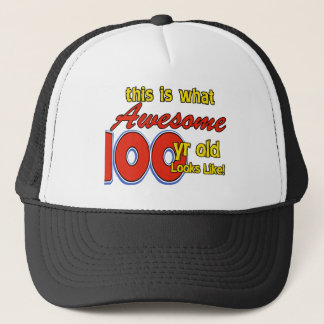 100 YEARS OLD BIRTHDAY DESIGNS TRUCKER HAT