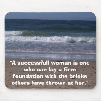 "100B1493, ""A successfull woman is one who can l... Mouse Pad"