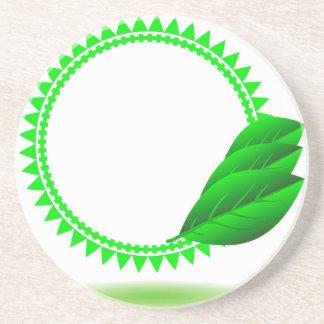 100Green Icon_rasterized Coaster