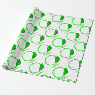 100Green Icon_rasterized Wrapping Paper