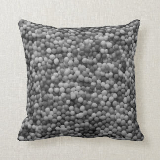 100s and 1000s black and white throw pillow