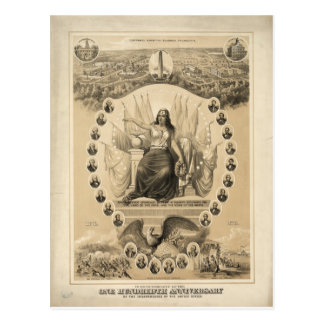 100th Anniversary of American Independence 1876 Postcard