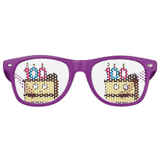 100th Birthday Cake with Candles Party Shades