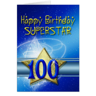 100th Birthday card for Superstar