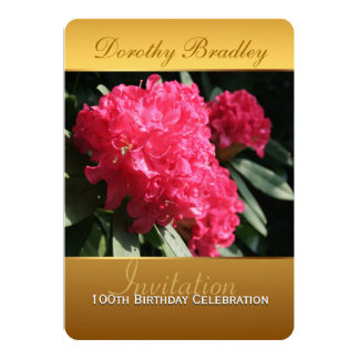 100th Birthday Celebration Rhododendron Invitation