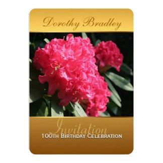 100th Birthday Celebration Rhododendron Invitation