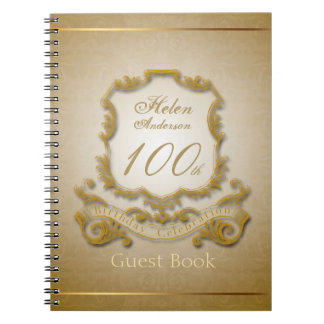 100th Birthday Celebration Vintage Frame Notebook
