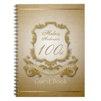 100th Birthday Celebration Vintage Frame Notebooks
