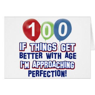 100th birthday designs card