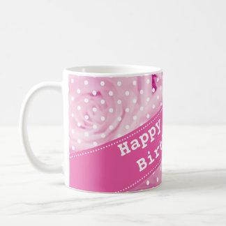 100th Birthday mug with pink rose flowers