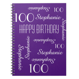 100th Birthday Party Guest Book, Repeating Names Notebooks