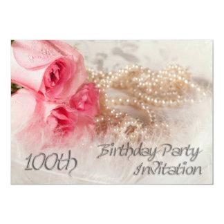 100th Birthday party invitation