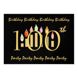 100th Birthday Party Invitation Template