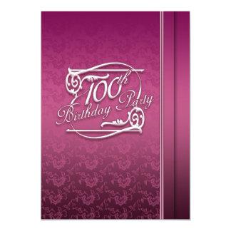 100th Birthday Party Modern Invitation
