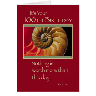 100th Birthday Shell Red Card