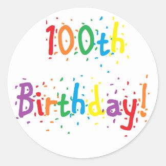 """100th Birthday"" Stickers"