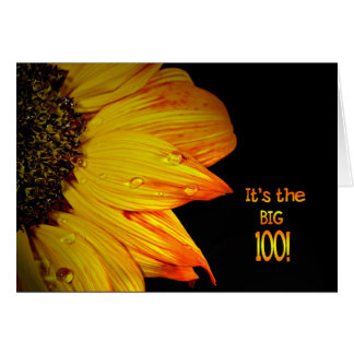 100th Birthday Sunflower Card