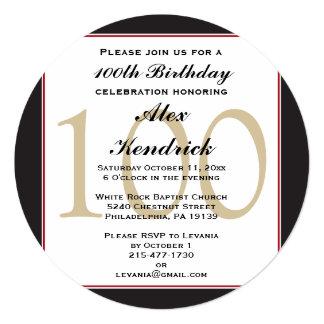 100th Centennial Birthday Invitation