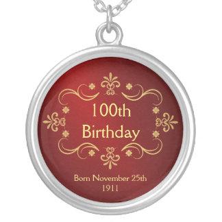 100th Collier d anniversaire - pendentif vintage d