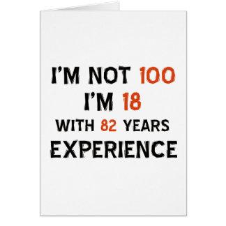 100th cool birthday designs card
