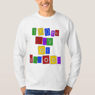 100th Day of School Block Letters T-Shirt