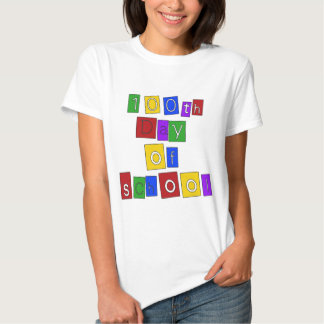 100th Day of School Block Letters T-shirts