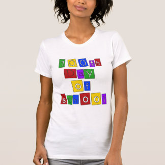 100th Day of School Block Letters T Shirt