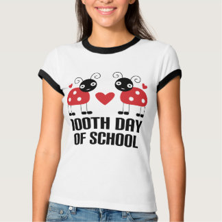 100th Day Of School Ladybug Teacher Gift T-shirts
