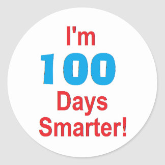 """100th Day of School"" Stickers"