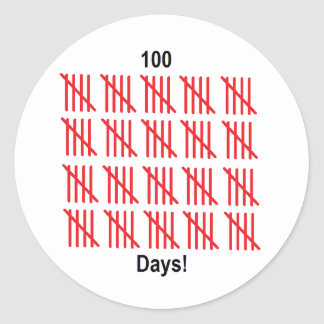 """""""100th Day of School"""" Stickers"""