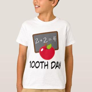 100th Day School Apple Slate Teaching Gift T-Shirt