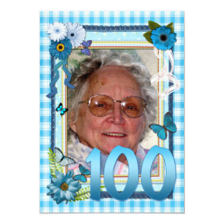 100th Photo birthday party invitation