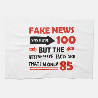 100th year old birthday gifts kitchen towel