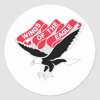 101 Aviation Regiment Round Sticker