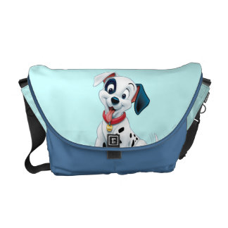 101 Dalmatian Patches Wagging his Tail Courier Bags