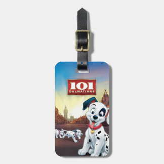 101 Dalmatian Patches Wagging his Tail Luggage Tag